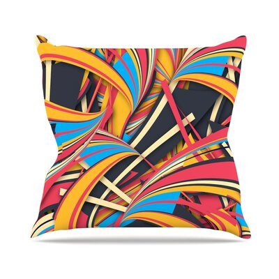 Slippery Slope by Danny Ivan Throw Pillow Size: 18 H x 18 W x 1 D