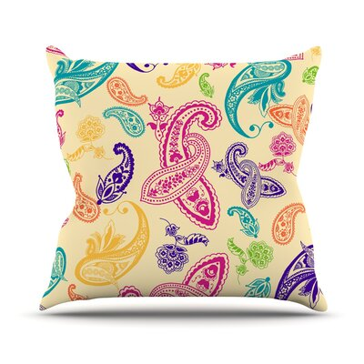 Namaste by Emine Ortega Floral Abstract Throw Pillow Size: 26 H x 26 W x 1 D