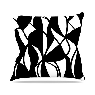 Sinuous by Emine Ortega Throw Pillow Size: 26 H x 26 W x 1 D