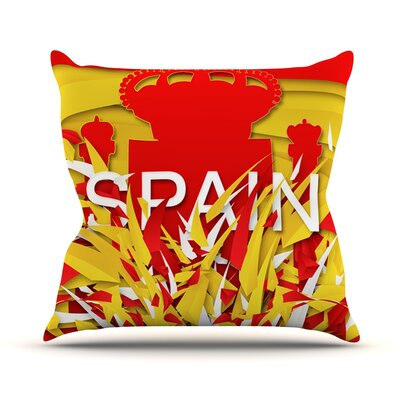 Spain by Danny Ivan World Cup Throw Pillow Size: 16 H x 16 W x 1 D