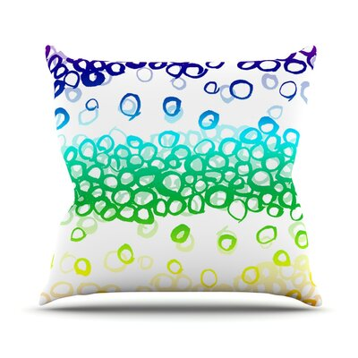 Pebble Row by Emine Ortega Throw Pillow Size: 26 H x 26 W x 1 D