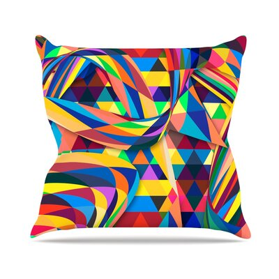 The Optimist by Danny Ivan Geometric Throw Pillow Size: 26 H x 26 W x 1 D