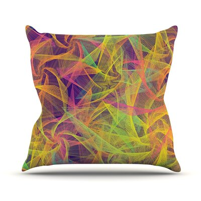 Blend Everywhere by Danny Ivan Abstract Throw Pillow Size: 18 H x 18 W x 1 D