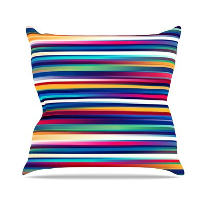 Blurry Lines by Danny Ivan Throw Pillow Size: 18 H x 18 W x 1 D