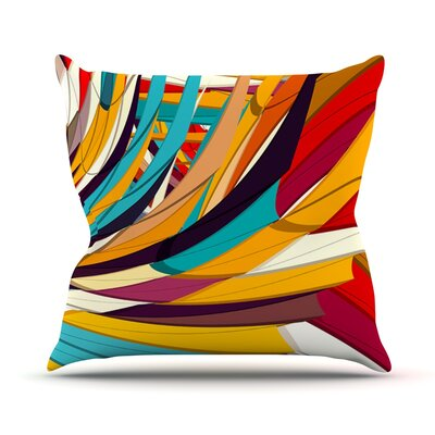 Demy World by Danny Ivan Throw Pillow Size: 26 H x 26 W x 1 D