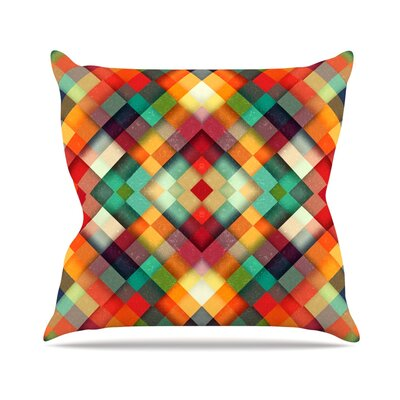Time Between by Danny Ivan Geometric Abstract Throw Pillow Size: 20 H x 20 W x 1 D