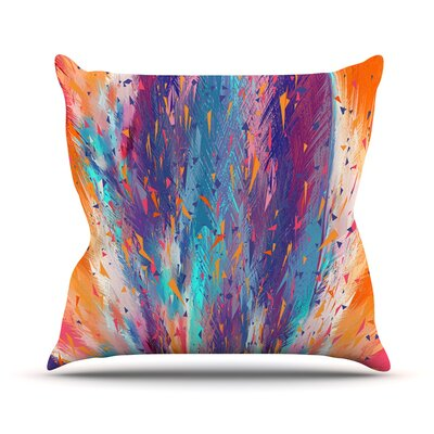 Colorful Fire by Danny Ivan Cool Fire Throw Pillow Size: 18 H x 18 W x 1 D