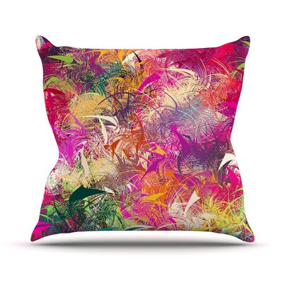 Splash by Danny Ivan Rainbow Abstract Throw Pillow Size: 26 H x 26 W x 1 D
