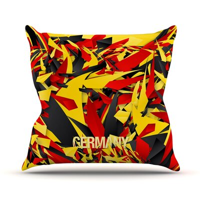 Germany by Danny Ivan World Cup Throw Pillow Size: 26 H x 26 W x 1 D