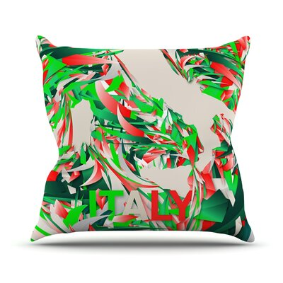 Italy by Danny Ivan World Cup Throw Pillow Size: 16 H x 16 W x 1 D