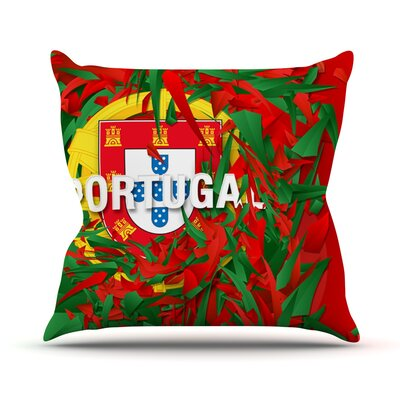 Portugal by Danny Ivan World Cup Throw Pillow Size: 26 H x 26 W x 1 D