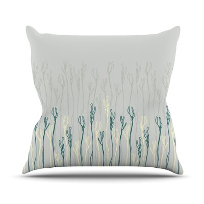 Dainty Shoots by Emma Frances Throw Pillow Size: 18'' H x 18'' W x 1