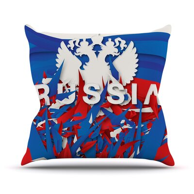 Russia by Danny Ivan World Cup Throw Pillow Size: 26 H x 26 W x 1 D
