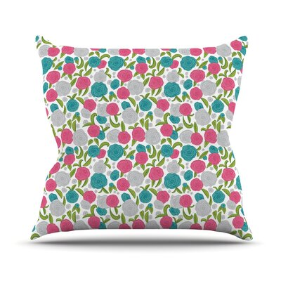 Vintage Brights by Emma Frances Throw Pillow Size: 16 H x 16 W x 1 D
