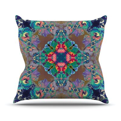 Flowery by Danii Pollehn Floral Kaleidoscope Throw Pillow Size: 26'' H x 26'' W x 1