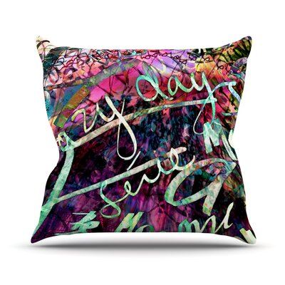 Crazy Day by Gabriela Fuente Rainbow Abstract Throw Pillow Size: 26 H x 26 W x 1 D