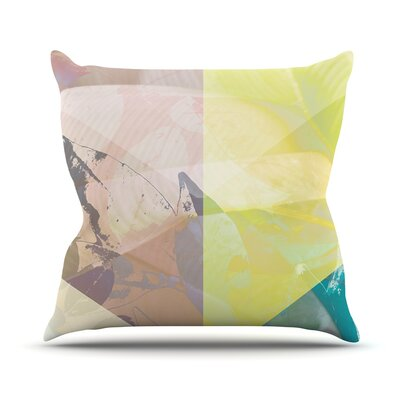 Patch Garden by Gabriela Fuente Throw Pillow Size: 18 H x 18 W x 1 D