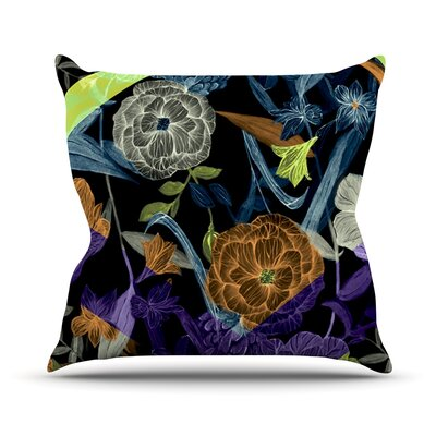 Wonder by Gabriela Fuente Dark Flower Throw Pillow Size: 18 H x 18 W x 1 D