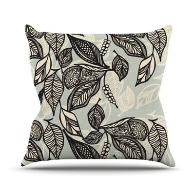 Java Leaf by Gill Eggleston Throw Pillow Size: 20 H x 20 W x 1 D