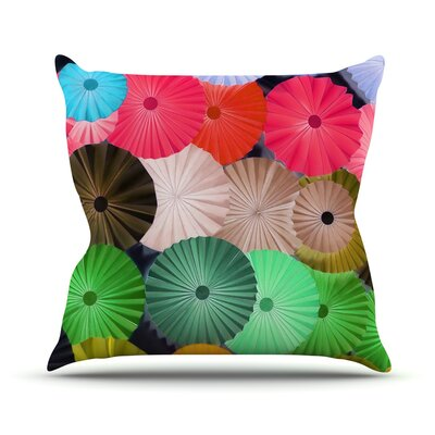 Parasol by Heidi Jennings Paper Circle Throw Pillow Size: 16 H x 16 W x 3 D