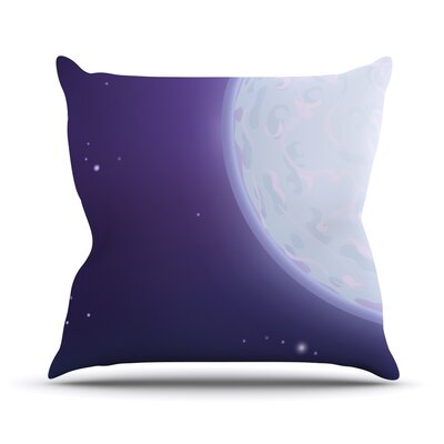 Full Moon by Fotios Pavlopoulos Night Sky Throw Pillow Size: 18 H x 18 W x 1 D
