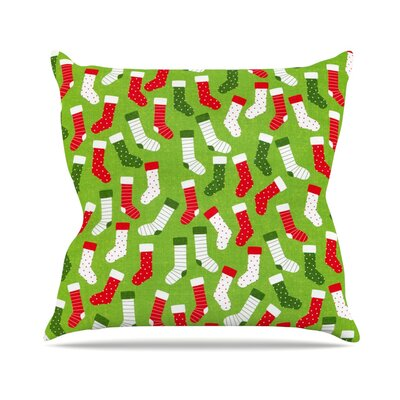 Stocking Season by Heidi Jennnings Throw Pillow Size: 18 H x 18 W x 3 D