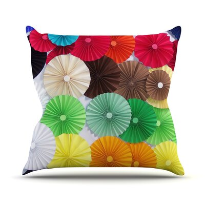 Adored by Heidi Jennings Circles Throw Pillow Size: 16 H x 16 W x 3 D