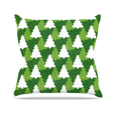 Pine Forest by Heidi Jennnings Throw Pillow Size: 16 H x 16 W x 3 D