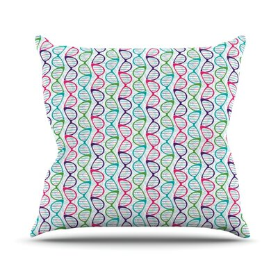 Geeky DNA by Holly Helgeson Throw Pillow Size: 18 H x 18 W x 1 D