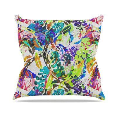 Flow by Gabriela Fuente Rainbow Floral Throw Pillow Size: 26 H x 26 W x 1 D