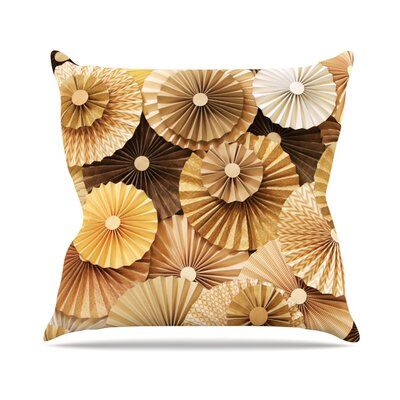 Caramel Latte by Heidi Jennings Throw Pillow Size: 16