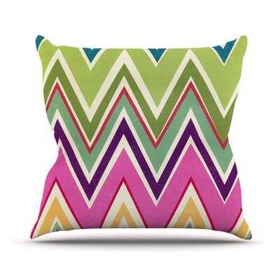 Clash Of Color by Heidi Jennings Rainbow Chevron Throw Pillow Size: 26 H x 26 W x 5 D