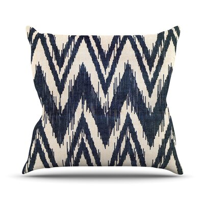 Tribal Chevron by Heidi Jennings Throw Pillow Size: 20 H x 20 W x 4 D, Color: Navy