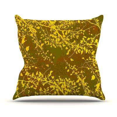 Twigs Silhouette by Iris Lehnhardt Throw Pillow Size: 20