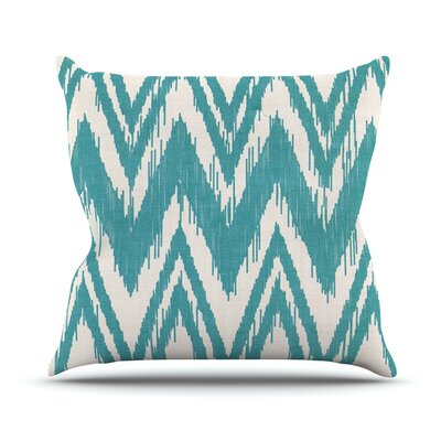 Tribal Chevron by Heidi Jennings Throw Pillow Size: 18 H x 18 W x 3 D, Color: Aqua