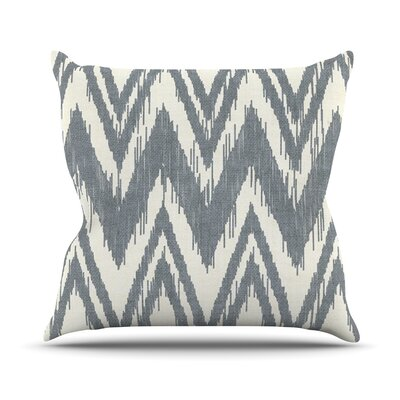 Tribal Chevron by Heidi Jennings Throw Pillow Size: 26 H x 26 W x 5 D, Color: Gray