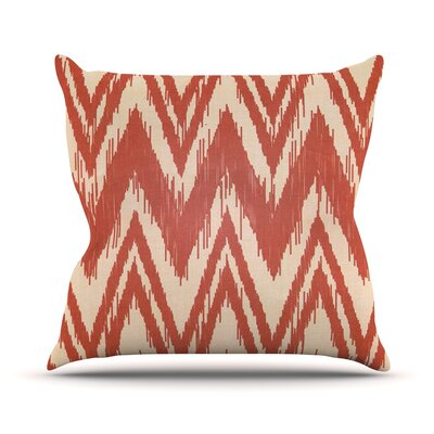 Tribal Chevron by Heidi Jennings Throw Pillow Size: 26 H x 26 W x 5 D, Color: Red