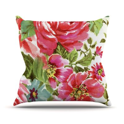 Walk Through The Garden by Heidi Jennings Flowers Throw Pillow Size: 18 H x 18 W x 3 D