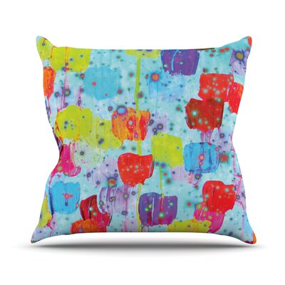 Speckle Me Dotty by Ebi Emporium Throw Pillow Size: 18 H x 18 W x 3 D