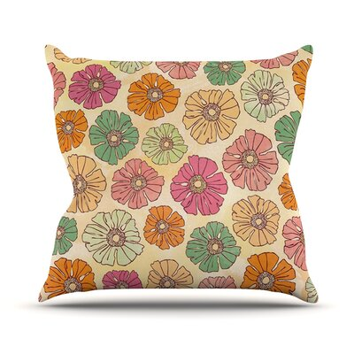 Vintage Petals by Heidi Jennings Throw Pillow Size: 16 H x 16 W x 3 D