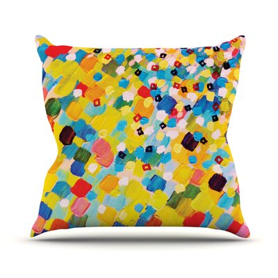 Swept Away by Ebi Emporium Throw Pillow Size: 16 H x 16 W x 3 D