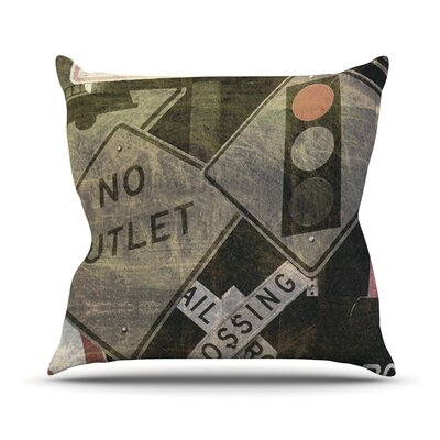 City Outing by Heidi Jennings Urban Signs Throw Pillow Size: 16 H x 16 W x 3 D