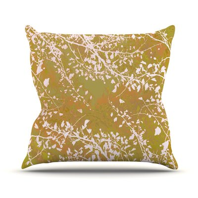 Twigs Silhouette by Iris Lehnhardt Throw Pillow Size: 18 H x 18 W x 3 D, Color: Neutral