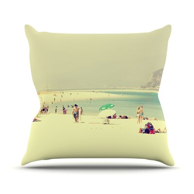 Lazy Days by Ingrid Beddoes Summer Beach Throw Pillow Size: 18 H x 18 W x 3 D