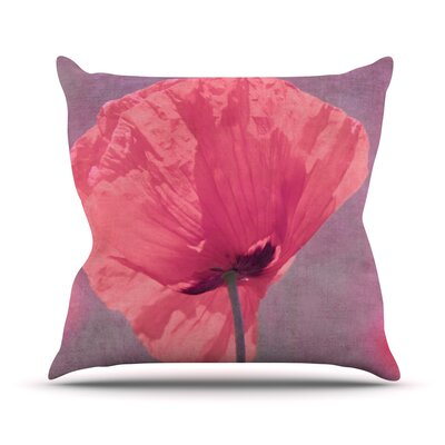 Poppy by Iris Lehnhardt Flower Throw Pillow Size: 20 H x 20 W x 4 D