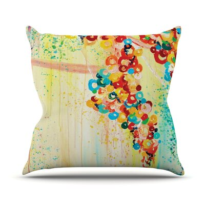 Summer in Bloom by Ebi Emporium Throw Pillow Size: 18 H x 18 W x 3 D