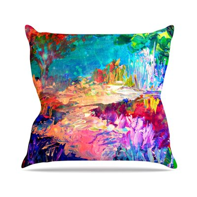 Welcome to Utopia by Ebi Emporium Rainbow Throw Pillow Size: 18 H x 18 W x 3 D