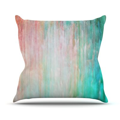 Color Wash by Iris Lehnhardt Throw Pillow Size: 16 H x 16 W x 3 D, Color: Blue