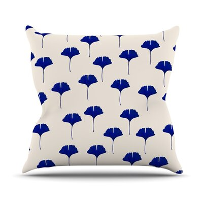 Leaf by Iris Lehnhardt Throw Pillow Size: 20 H x 20 W x 4 D
