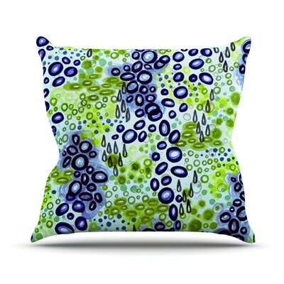 Persuasin by Ebi Emporium Throw Pillow Size: 26 H x 26 W x 5 D, Color: Blue/Green